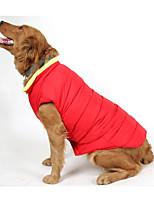 Chien Gilet Vêtements pour Chien Décontracté / Quotidien Formes Géométriques Orange Rouge Bleu Costume Pour les animaux domestiques