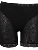 Women's Thin Solid Color Stitching Lace LeggingPatchwork