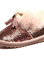 Girls' Shoes Paillette PU Winter Fluff Lining Snow Boots Boots For Casual Silver Black Gold