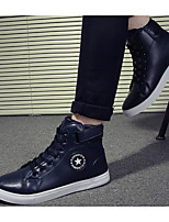 Men's Shoes PU Fall Winter Light Soles Sneakers For Casual Blue Black White