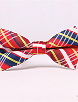 cheap -Men's Polyester Cotton Blend Bow Tie,Pattern Bow Print All Seasons