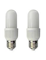 2pcs 6W E27 LED Corn Lights T 34 leds SMD 2835 Warm White White 480lm 3000/6000K AC 220-240V