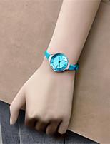 Mulheres Relógio de Moda Quartzo Silicone Banda Azul Verde Rosa