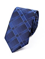 Men's Polyester Neck Tie,Striped Striped All Seasons Royal Blue
