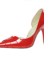 Women's Shoes Patent Leather Spring Fall Basic Pump Heels For Casual Party & Evening Silver Orange Gray Red