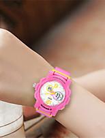 Mulheres Relógio de Moda Relogio digital Digital Silicone Banda Azul Rosa Rose