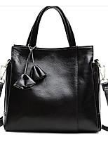 Women Bags All Seasons Cowhide Shoulder Bag Zipper for Casual Dark Blue Red Black