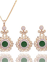 Women's Wedding Party Cubic Zirconia Rhinestone Necklace Earrings