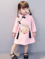 Girl's Embroidered Dress Fall Winter