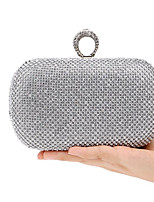 Women Bags All Seasons Polyester Evening Bag Buttons for Casual Gold Black Silver
