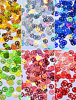 Smile Colorful Sequins Shell Colorful Nail Art Decoration 6pcs/set