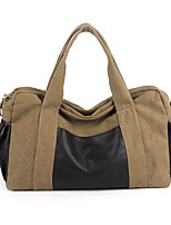 Unisex Bags All Seasons Canvas Shoulder Bag Pockets Zipper for Casual Outdoor Black Gray Brown Khaki