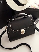 Women Bags PU Crossbody Bag Zipper for Casual All Seasons Black