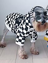 Chat Chien Vêtements pour Chien Décontracté / Quotidien Tartan Blanc/Noir Costume Pour les animaux domestiques