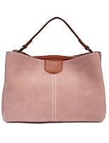 Donna Sacchetti Per tutte le stagioni PU (Poliuretano) Tote Cerniera per Shopping Casual Nero Rosso Rosa