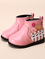 Girls' Shoes Leatherette Winter Snow Boots Boots Booties/Ankle Boots for Casual Black Red Pink
