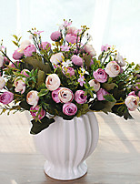 10 Heads Multicolor Daisy Little Tea Rose Artificial Flowers Tabletop Flower