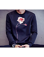 Men's Casual/Daily Sweatshirt Print Round Neck Micro-elastic Cotton Long Sleeve Fall