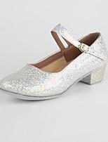 Women's Modern Paillette Indoor Low Heel Gold Silver Red 1