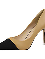 Women's Shoes PU Spring Fall Basic Pump Heels For Casual Camel Red Black White