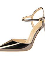 Mujer Zapatos Cuero Patentado Primavera Verano Innovador Tacones Tacón Stiletto Dedo Puntiagudo Hebilla Para Vestido Fiesta y Noche Rojo