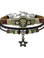 Men's Women's Leather Bracelet Vintage Rock Leather Alloy Skull Jewelry Jewelry For Casual Street