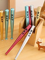 12 PCS Baseball Bat Design Black Ink Gel Pen