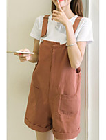 Women's Going out Casual/Daily Street chic Summer T-shirt Pant Suits,Solid Round Neck Short Sleeve Micro-elastic