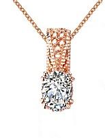 Per donna Collane con ciondolo Opale Strass Ovale Di forma geometrica Zirconi Rame Gioielli Per Matrimonio Quotidiano