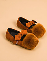 Girls' Shoes Leatherette Fall Winter Comfort Loafers & Slip-Ons For Casual Blushing Pink Green Red Brown