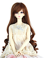 Women Synthetic Wig Capless Long Curly Medium Auburn Doll Wig Costume Wig
