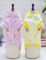 Cat Dog Shirt / T-Shirt Dog Clothes Casual/Daily Letter & Number Yellow Blushing Pink