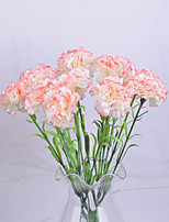 1 Branch Polyester Carnation Tabletop Flower Artificial Flowers