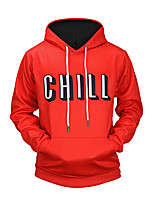 Men's Daily Sports Going out Active Street chic Punk & Gothic Hoodie 3D Print Hooded Micro-elastic Polyester Long Sleeve Winter Fall
