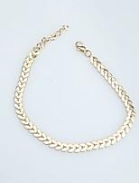 Femme Bracelet de cheville/Bracelet Alliage Forme Géométrique Bijoux Pour Quotidien Rendez-vous