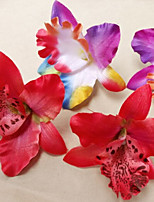 10 Branch Plastic Orchids Tabletop Flower Artificial Flowers