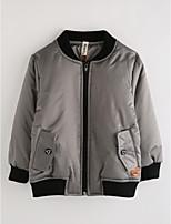 Boys' Solid Jacket & Coat,Cotton Winter Long Sleeve