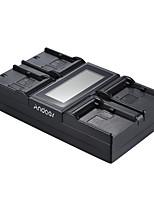 andoer lp-e6 lp-e6n np-f970 4 canaux chargeur de batterie de l'appareil photo numérique w / affichage lcd pour canon et sony