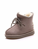 Girls' Shoes Cowhide Fall Winter Snow Boots Boots Booties/Ankle Boots For Casual Army Green Brown Gray Beige Black