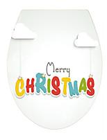 Noël Mots& Citations Stickers muraux Autocollants muraux 3D Autocollants toilettes 3D,Vinyle Matériel Décoration d'intérieur Calque Mural