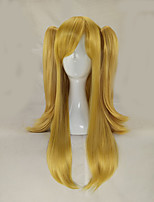 Women Synthetic Wig Capless Long Straight Blonde With Ponytail Lolita Wig Halloween Wig Carnival Wig Cosplay Wig Costume Wig