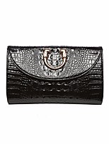 Women Bags All Seasons Cowhide Clutch Zipper for Casual Black White Gold