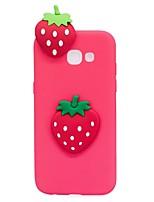Capinha Para Samsung Galaxy A5(2017) A3(2017) Estampada Faça Você Mesmo Capa Traseira Desenhos 3D Fruta Macia PUT para A3 (2017) A5