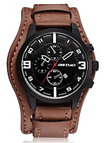 Men's Sport Watch Fashion Watch Casual Watch Chinese Quartz Large Dial PU Band Casual Cool Minimalist Black Brown
