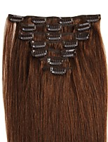14-24 Inch Clip In Human Hair Extensions 100% Real Human Hair Straight Various Colors for Lady Beauty 70g/100g/Pack