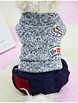 Dog Clothes/Jumpsuit Dog Clothes Casual/Daily Letter & Number Orange Gray Yellow Blue