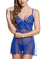Ultra Sexy Vêtement de nuit Femme,Sexy Solide Polyester