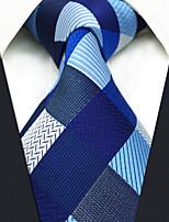 Masculino Quadriculado Seda Todas as Estações Gravata,Quadriculada