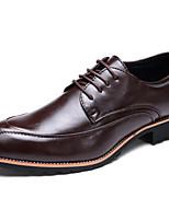 Для мужчин обувь Полиуретан Весна Осень Удобная обувь Туфли на шнуровке Назначение Повседневные Белый Черный Коричневый