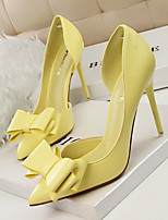 Women's Shoes PU Spring Summer Basic Pump Heels For Casual Party & Evening White Gray Yellow Red Pink